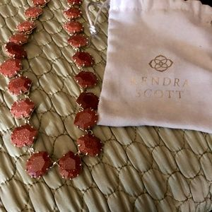 Kendra Scott Sam Necklace w/ Orange Goldstone